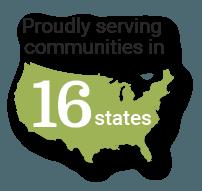 Serving 16 States